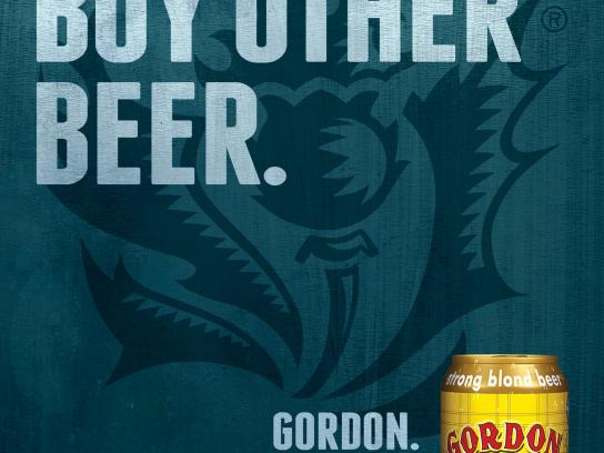 Gordon Finest Beers Outdoor Ad -  Jokes