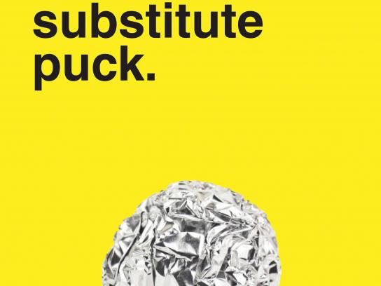 No Name Aluminum Foil Print Ad - Uses - Substitute Puck