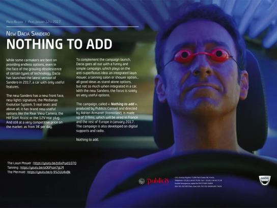 Dacia Film Ad - Tanning