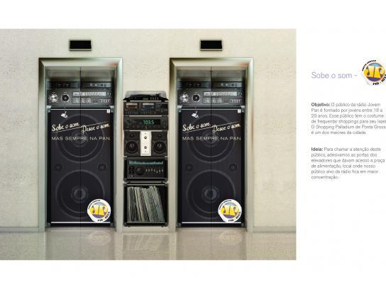 Radio Jovem Pan Outdoor Ad -  Elevator