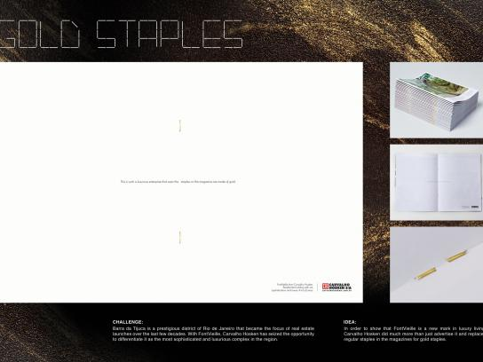 Carvalho Hosken Direct Ad -  Gold staples
