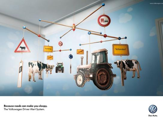 Volkswagen Print Ad -  Tired - Countryside