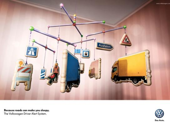 Volkswagen Print Ad -  Tired - Highway