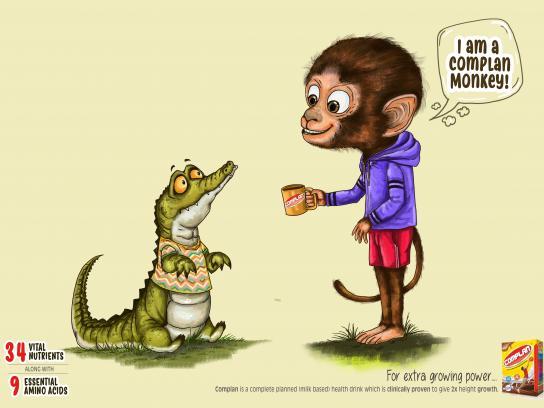 Complan Print Ad - Monkey