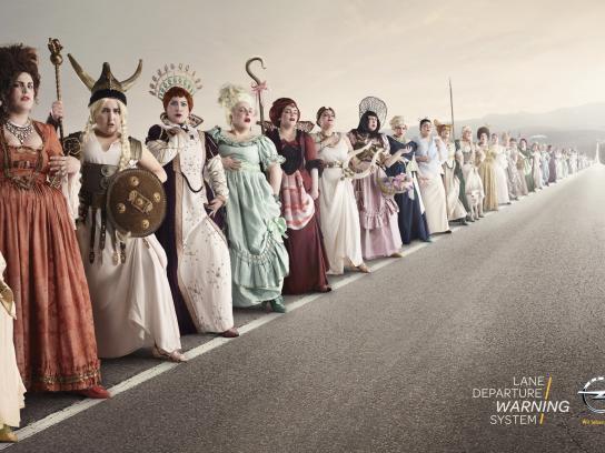 Opel Print Ad -  Opera singers