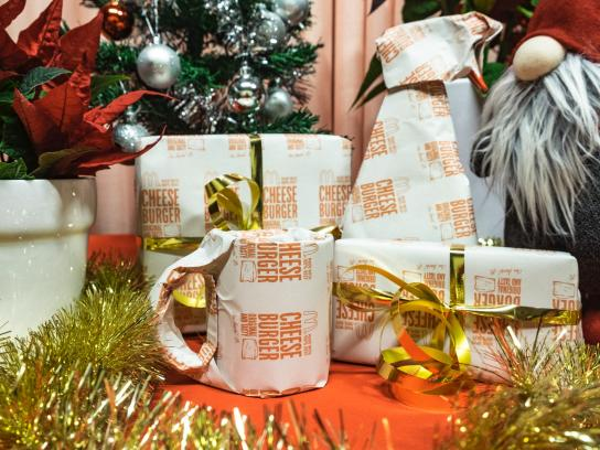 McDonald's Direct Ad - Gift Wrap Redeemed for a Cheeseburger