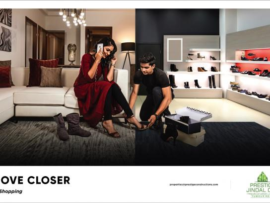 Prestige Jindal City Print Ad - Move Closer - Shopping