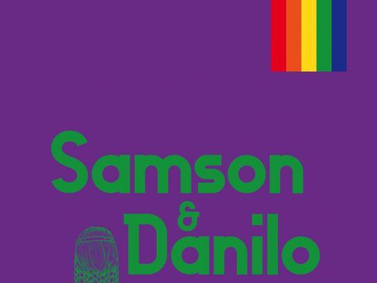 Vodacom Mozambique Fashion Week Print Ad - Pride Couples - Purple