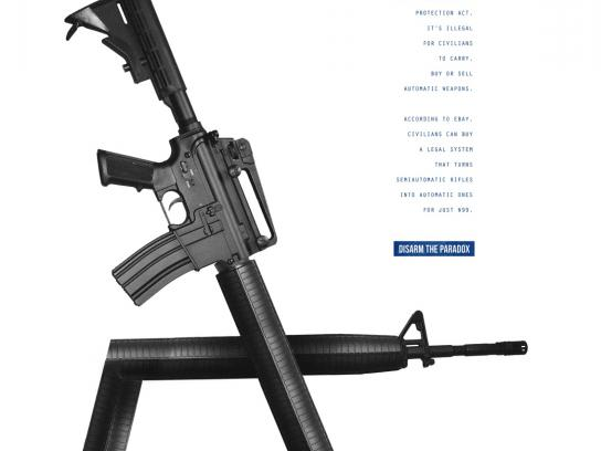 March For Our Lives Print Ad - Paradoxes - Bump Fire System