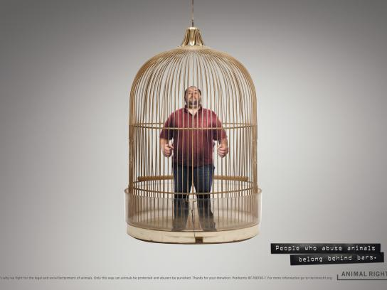 Animal Rights Print Ad -  Cage, 2