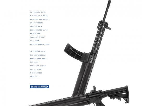 March For Our Lives Print Ad - Paradoxes - Colt Company