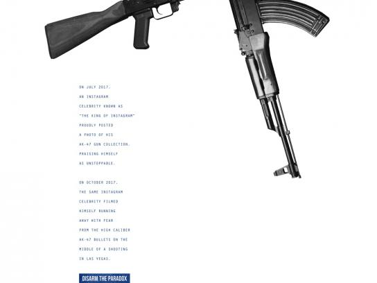 March For Our Lives Print Ad - Paradoxes - Dan Bilzerian