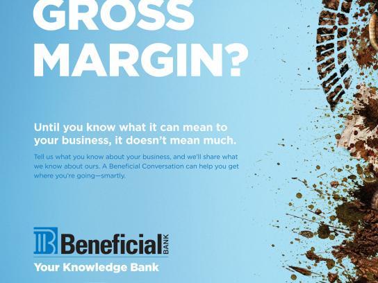 Beneficial Bank Print Ad -  Gross margin