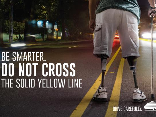 Instituto Nacional de Seguros Print Ad - Yellow Line