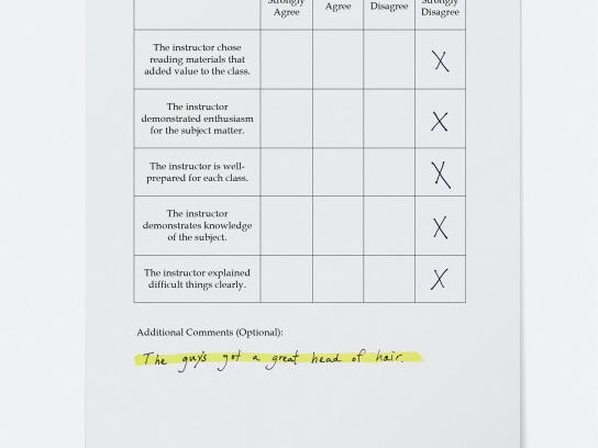 Hi-Liter Print Ad - Teacher Evaluation