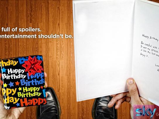 SKY Print Ad -  Birthday