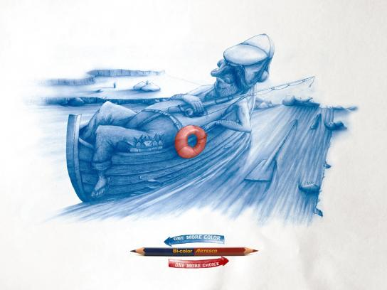 Artesco Print Ad -  Fisherman