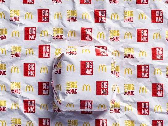 McDonald's Print Ad - Big Mac - Packed in History - 2013