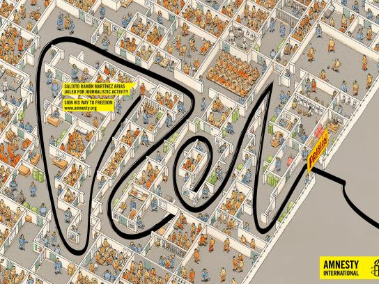 Amnesty International Print Ad -  Calixto
