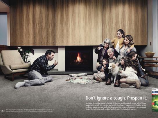 Prospan Print Ad - Fireplace