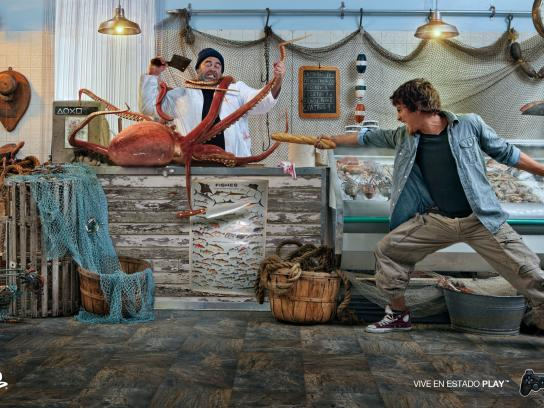 PlayStation Print Ad -  Octopus