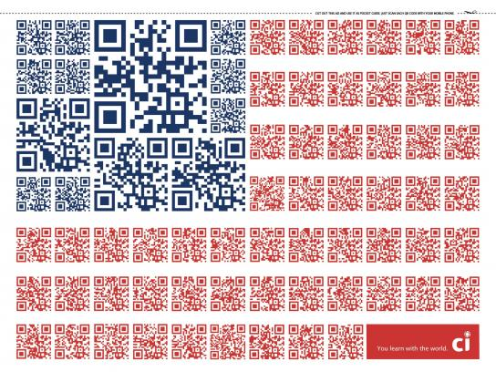 CI Intercâmbio Print Ad -  QR Code Flags, USA