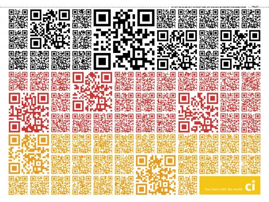 CI Intercâmbio Print Ad -  QR Code Flags, Germany