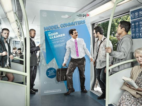 Public Transport Victoria Print Ad -  The door clearer