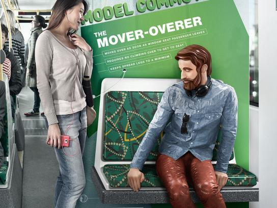 Public Transport Victoria Print Ad -  The mover-overer