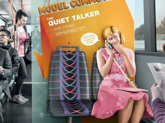 Public Transport Victoria Print Ad -  The quiet talker