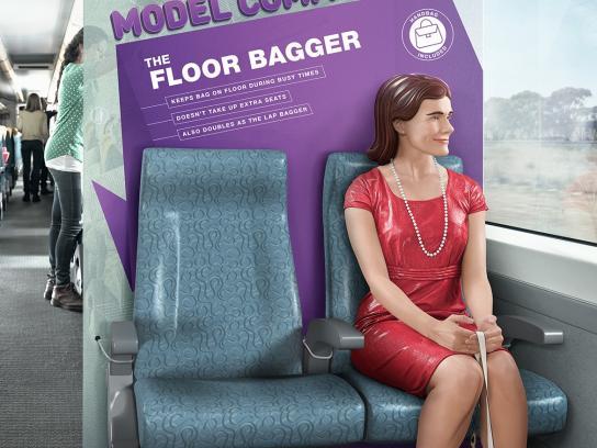 Public Transport Victoria Print Ad -  The floor bagger