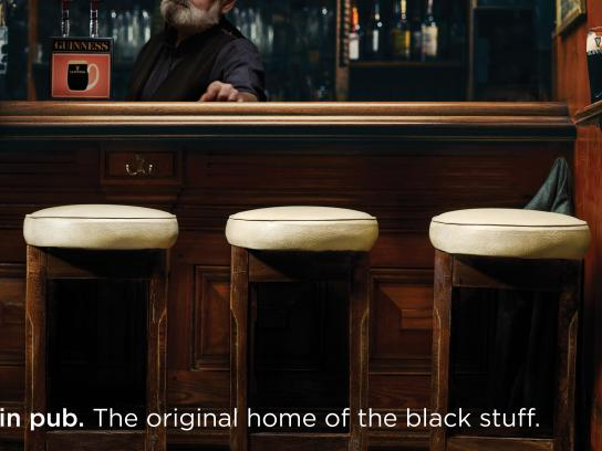 Guinness Print Ad - Stools