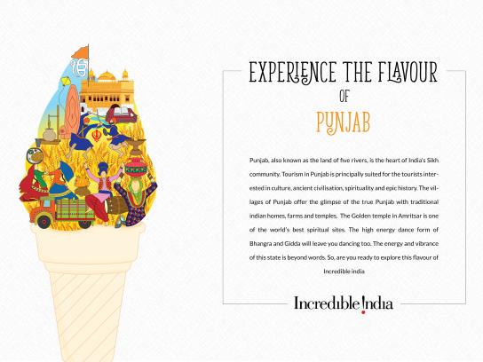 Incredible India Print Ad - Flavours of India - Punjab