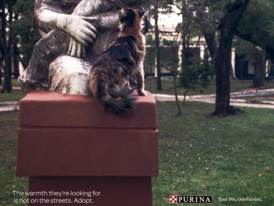 Purina Print Ad - Statues, 1
