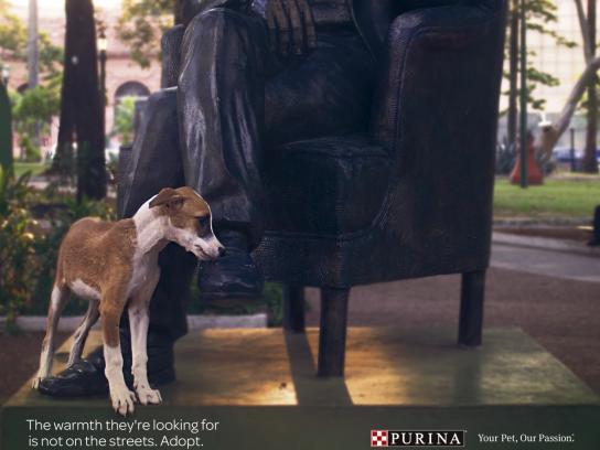 Purina Print Ad - Statues, 2
