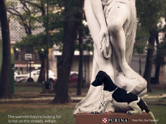 Purina Print Ad - Statues, 3