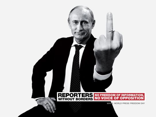 Reporters Without Borders Print Ad -  Putin