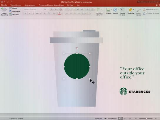 Starbucks Print Ad - Powerpoint