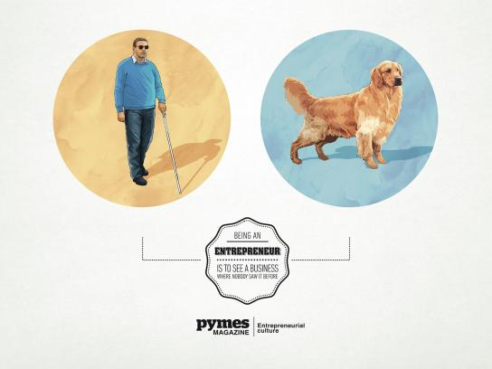 Pymes Magazine Print Ad -  Guide Dog