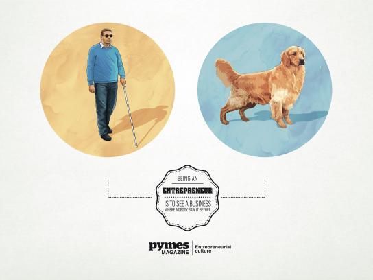 Pymes Magazine Print Ad -  Guide Dog