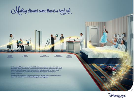 Disneyland Print Ad -  Real job, 2