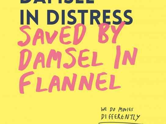 Melbourne Queer Film Festival Print Ad -  Damsel