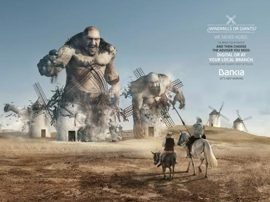Bankia Print Ad - Quijote