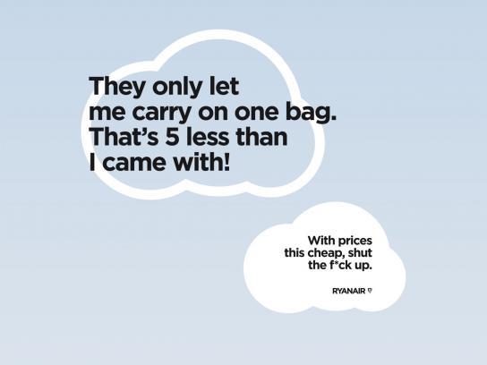 Ryanair Print Ad -  Bag