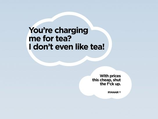 Ryanair Print Ad -  Tea