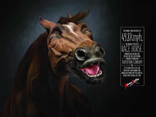Kamasutra Print Ad - Race Horse