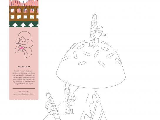 Rachelrax Print Ad - Cakes, 1