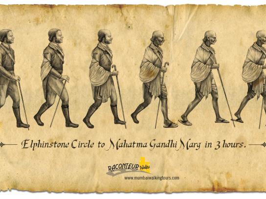 Raconteur Walks Print Ad -  Elphinstone Circle to Mahatma Gandhi Marg