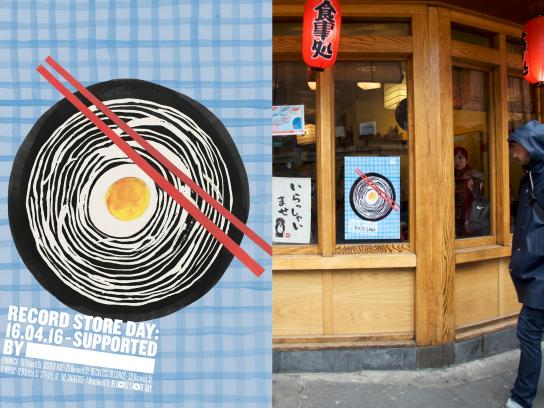 Record Store Day Outdoor Ad -  Ramen