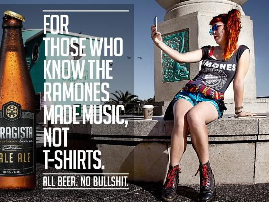 Garagista Print Ad -  Ramones